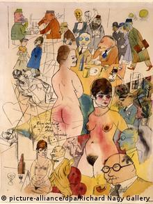 George Grosz Fern im Süd das schöne Spanien Ausstellung Richard Nagy Gallery London