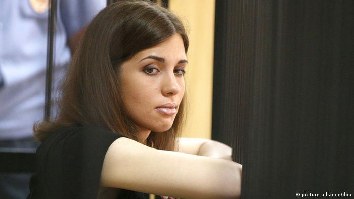 Pussy Riot member Nadezhda Tolokonnikova attends a parole hearing at the Supreme Court of the Republic of Mordovia (Photo ITAR-TASS/ Stanislav Krasilnikov)