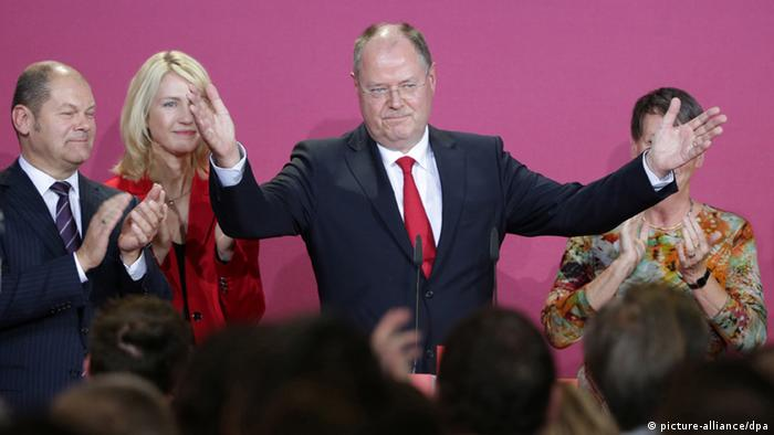 Peer Steinbrück announces he is leaving the frontline of politics after his 2013 electoral defeat
