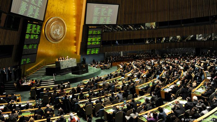 Member states at a sitting of the UN