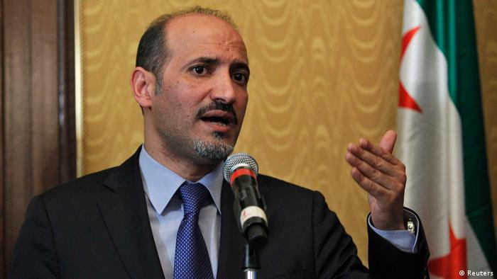 Ahmad Jarba, head of the opposition Syrian National Coalition, speaks during a news conference about chemical weapons in New York, September 27, 2013. REUTERS/Eduardo Munoz (UNITED STATES - Tags: POLITICS CONFLICT)