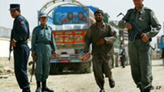 Sicherheitslage in Afghanistan Konvoi