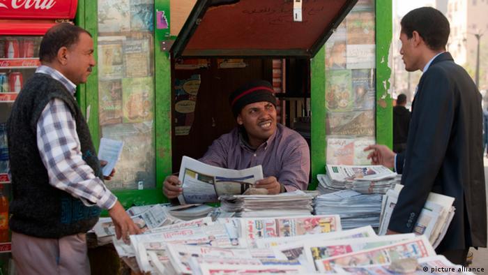 Ein Zeitungskiosk in Luxor (Foto: picture-alliance)