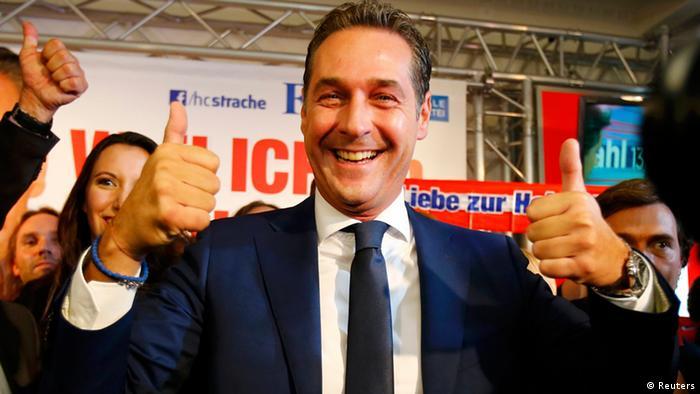 Wahlen in Österreich - FPÖ Christian Strache