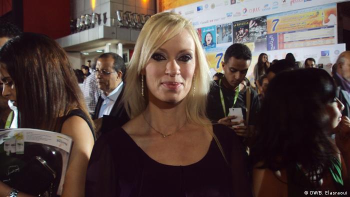 Thema: Frauenkino Marokko Bildtitel: Annett Culp, Schauspielerin/ Deutschland Aufnahme-Datum: 23.9.2013 Copyright: DW/Bouameur Elasraoui