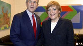 Angela Merkel bei George Bush