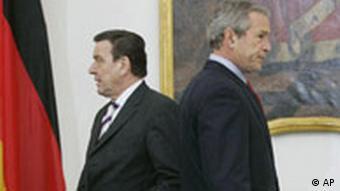 Gerhard Schröder bei George Bush