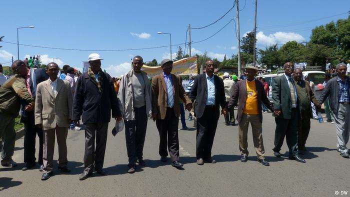 Demonstration der äthiopischen Oppositionspartei UDJ am 29.09.2013 in Addis Abeba *** Datum: 29.09.2013 Bildrechte: DW