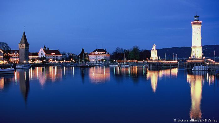 Farol de Lindau, no sul da Alemanha