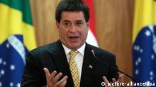 Paraguay Präsident Horacio Cartes in Brasilien