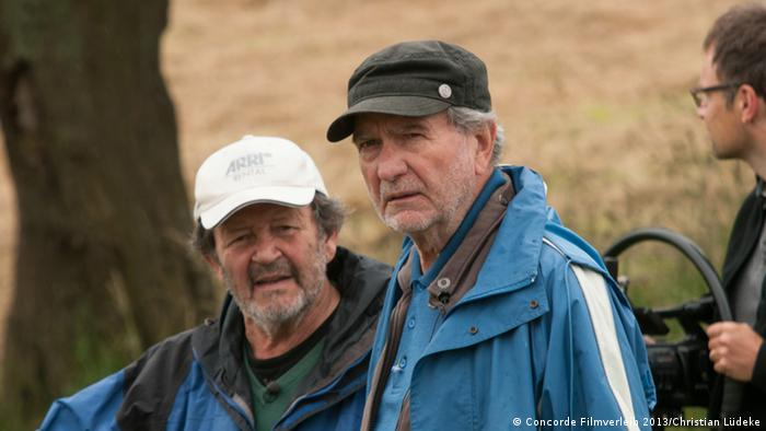 Kameramann Gernot Roll (links) und Regisseur Edgar Reitz (c) Concorde Filmverleih 2013/Christian Lüdeke
