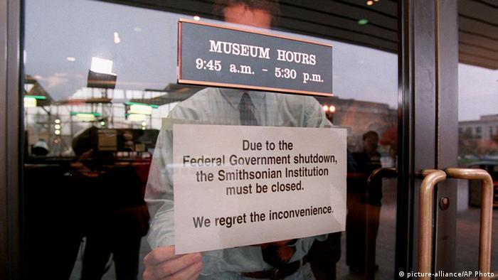 Geschlossenes Museum in Washington (Foto: Picture alliance/AP Photo)
