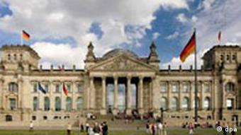 Reichstag building in Berlin, seat of Germany's parliament
