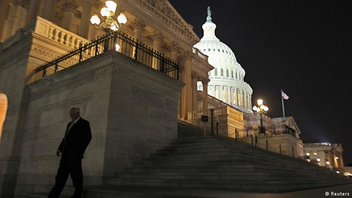 A member of the U.S. House of Representatives walks down the steps from the House Chamber REUTERS/Jim Bourg
