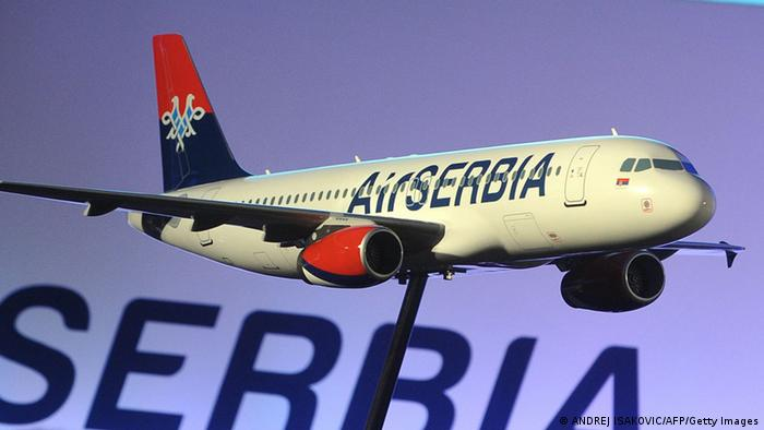 Maketa aviona Air Serbia