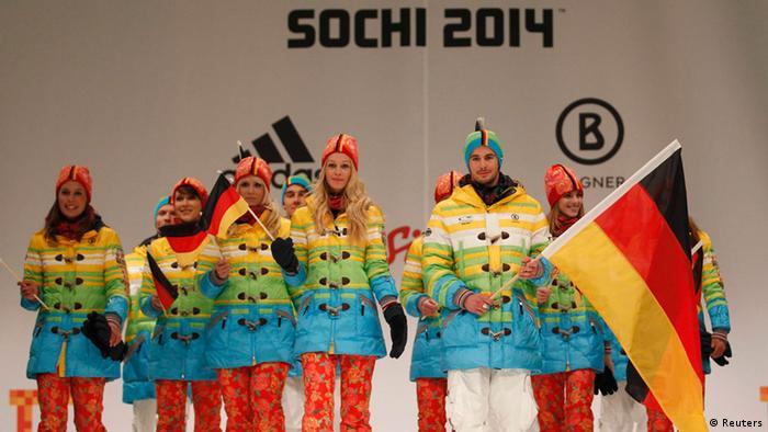 Olympia Sotchi Deutsches Team wird eingekleidet (Reuters)