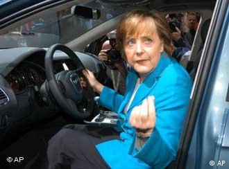 Ангела Меркель на автосалоне IAA. Фото из архива
