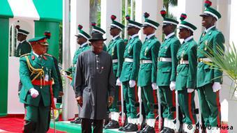 Nigeria Abuja Militärparade
