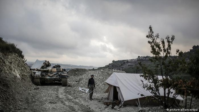 2290466 Syria. 09/23/2013 Syrian government forces in tents in Latakia province, near the Turkish border. Andrey Stenin/RIA Novosti