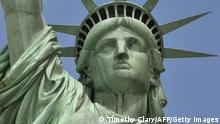 Porträt Freiheitsstatue New York Lady Liberty