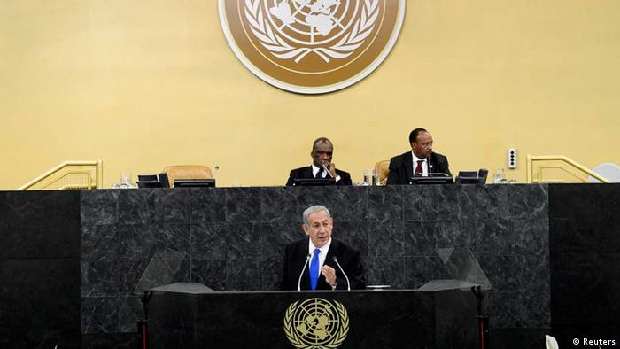 Israeli Prime Minister Benjamin Netanyahu addresses the 68th Session of the United Nations General Assembly at the UN headquarters in New York October 1, 2013. REUTERS/Andrew Gombert/Pool