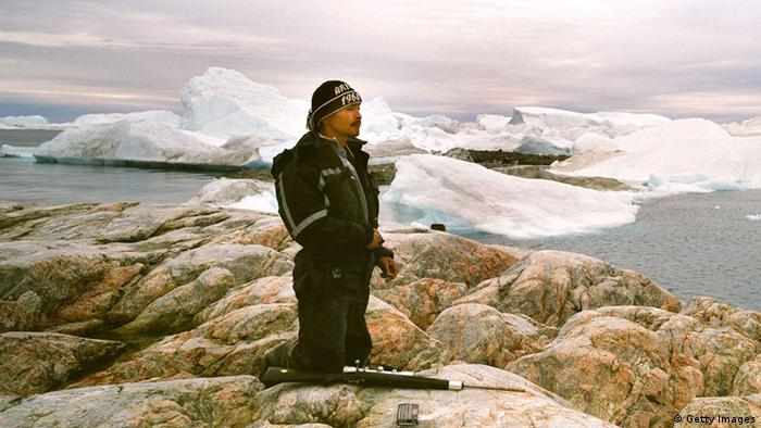 An Inuit fisherman in Greenland