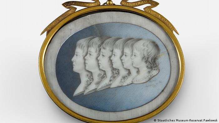 Миниатюра с портретами детей императрицы Марии Федоровны. 1790 г.
