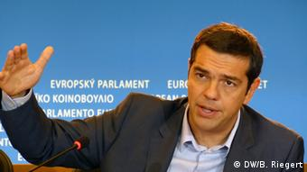 Greek opposition leader Alexis Tsipras