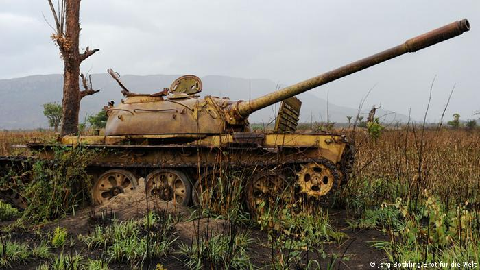 Abandoned tank in Angola