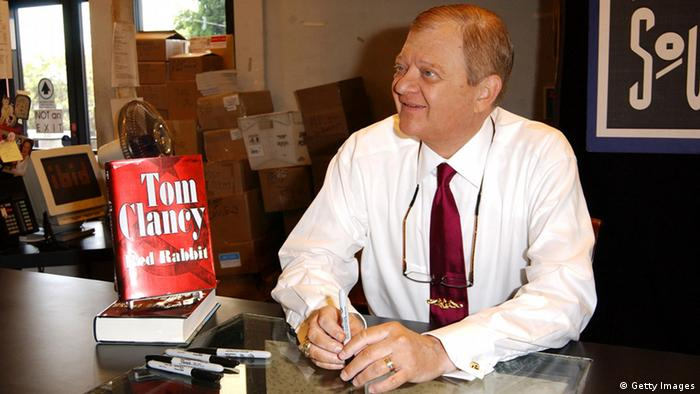 WEST HOLLYWOOD, CA - AUGUST 10: Writer Tom Clancy poses for a photograph prior to signing autographs of his new book Red Rabbit on August 10, 2002 at Book Soup in West Hollywood, California. (Photo by Robert Mora/Getty Images)