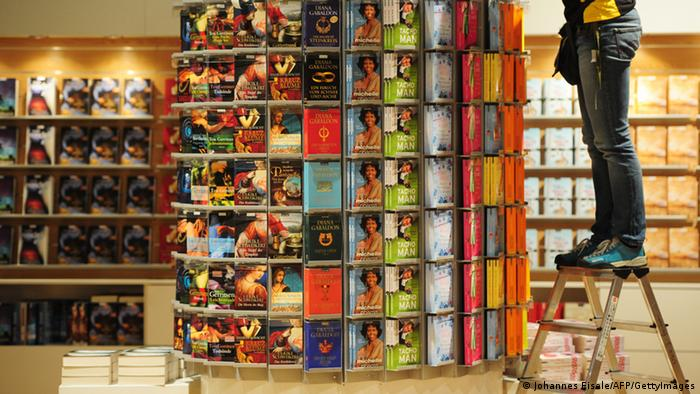 Bücherstand auf der Frankfurter Buchmesse: Foto: AFP