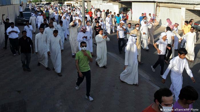 Kuwait Demonstration für Einbürgerung