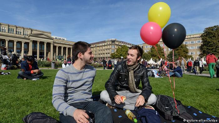 Para muitos alemães, o 3 de Outubro costuma ser um bom dia para ir ao parque. Geralmente o tempo é bom