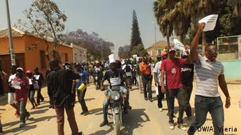 Demonstration der SINPROF in Lubango, Angola (DW/A. Vieria)