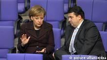 Bundestagswahl 2013 Symbolbild mögliche große Koalition Merkel Gabriel