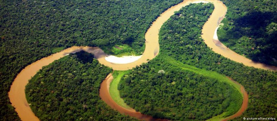 Vista aérea do Parque Nacional de Yasuní