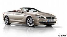 Pressebild: BMW 6er Cabrio im Studio