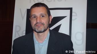 Kostis Papaioannou, Vorsitzender der griechischen Kommission für Menschen- und Bürgerrechte (Foto: DW/Jannis Papadimitriou)