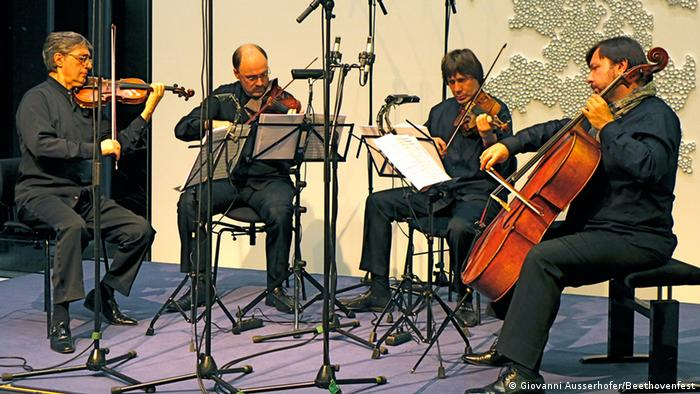 Квартет имени Бородина во время финального концерта цикла