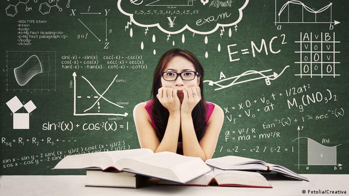 Symbolbild Studentin Stress
