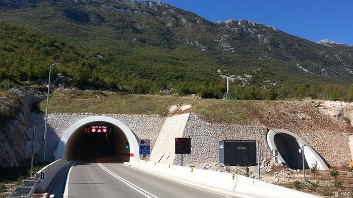 Tuneli na jendoj od hrvatskih autocesta