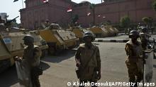 Ägypten Kairo Tahrir Platz Soldaten Absperrung 06.10.2013