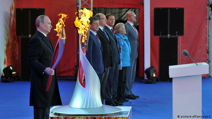Russian President Vladimir Putin at the launching ceremony of the Sochi 2014 Olympic torch relay (photo: Aleksey Nikolskyi/RIA Novosti)
