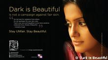 Poster der Kampagne Dark is Beautiful in Indien
