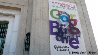 Plakat zur Georg Büchner Ausstellung Darmstadt