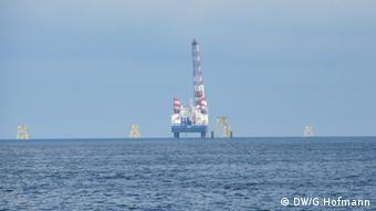 Offshore Windanlagen vor Helgoland (Foto: Grit Hofmann DW)
