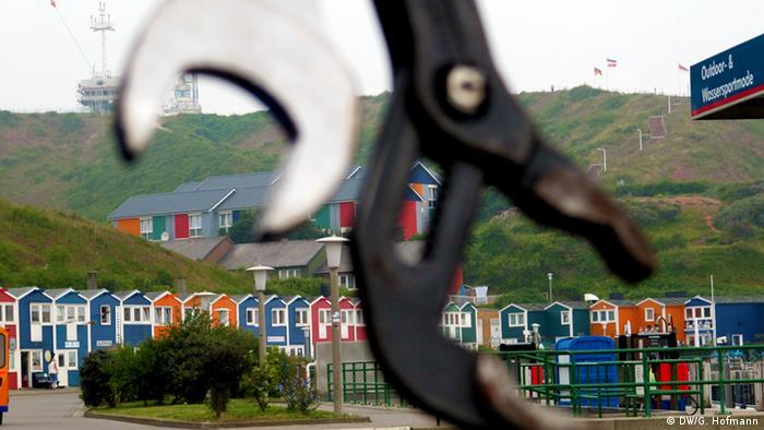Häuser auf Helgoland (Foto: Grit Hofmann DW)
