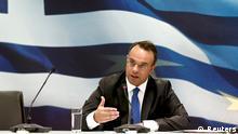 Griechenland Christos Staikouras Vize-Finanzminister 07.10.2013