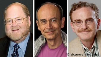 James E Rothman from the US, Thomas C Suedhof from Germany and Randy W Schekman from the US