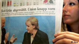 Bundestagswahl 2005: Wahlabend FDP Zeitung
